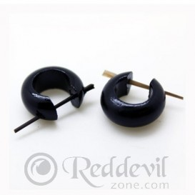 Wood Earrings Black