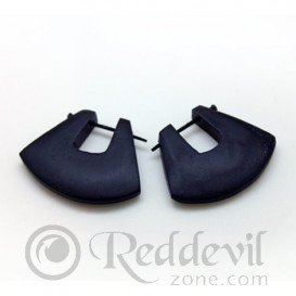 Wood Earrings - Black