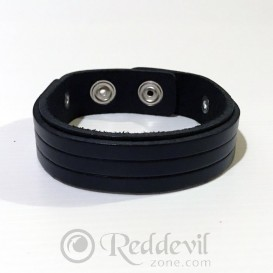 Leather bracelets black