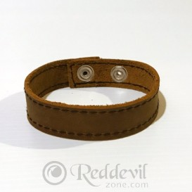 Leather bracelets light brown