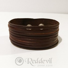 Leather bracelets brown