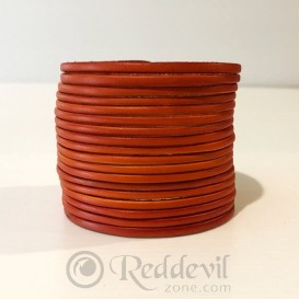 Leather bracelets orange