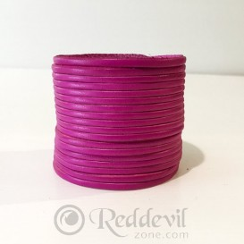 Leather bracelets fuchsia
