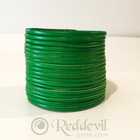 Leather bracelets green