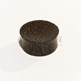 Wooden Plug - dark coconut wood