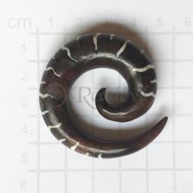 Wood Spiral 12 mm white inlay