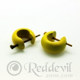 Wood Earrings Yellow
